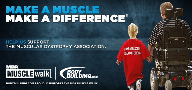 Bodybuilding.com Teams Up With MDA For 2013 Muscle Walk Season