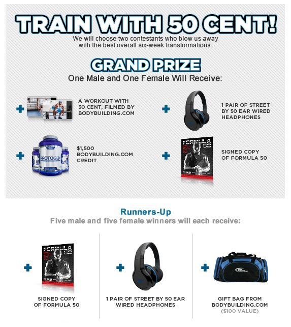 Grand Prize: Train with 50 Cent!