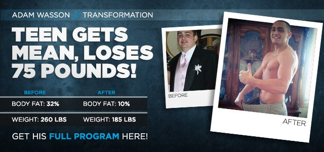 Body Transformation: Teen Gets Mean, Loses 75 Pounds!
