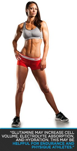 Glutamine may increase cell volume, electrolyte absorption, and hydration. This may be helpul for enduance and phyique athletes.
