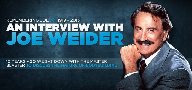 An Interview With Joe Weider