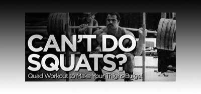 Can't Do Squats? Quad Workout To Make Your Thighs Bulge!