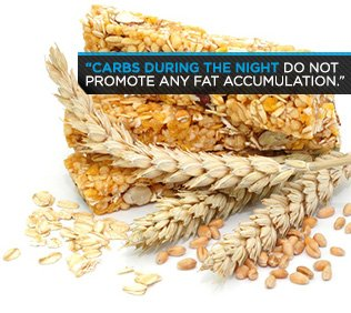 Carbs during the night do not promote any fat accumulation