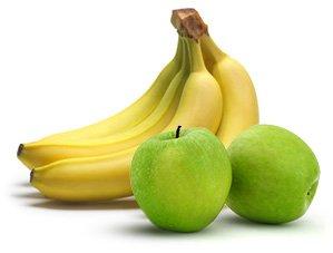 Bananas and apples