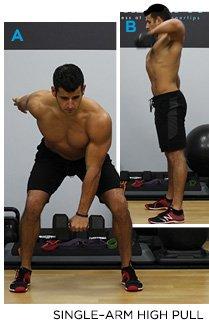 Exercise 4 Dumbbell Single Arm High Pull Progression