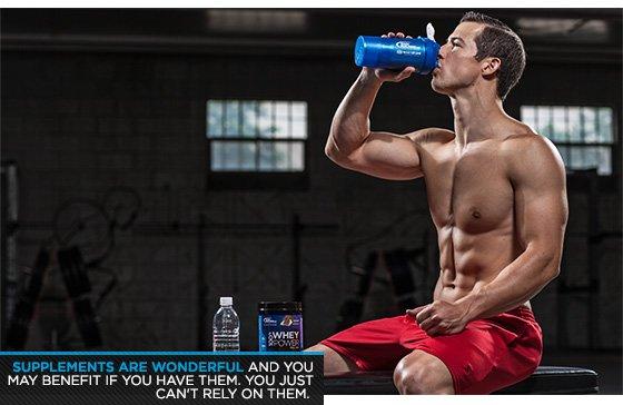 Man drinking during workout