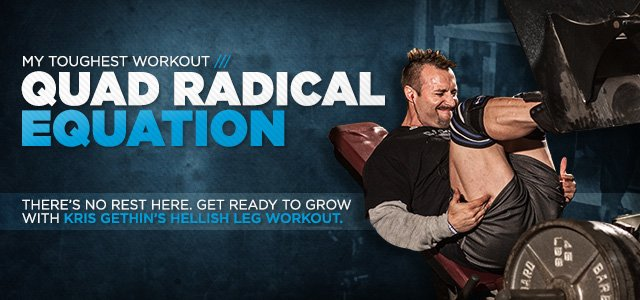 Leg Workout From Hell: Kris Gethin's Quad Radical Equation
