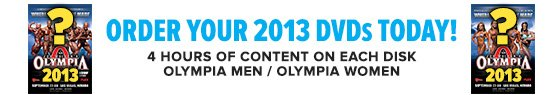 Pre-Order 2013 Olympia DVDs!