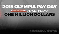 Press Release: Olympia Prize Money Reaches One Million Dollars