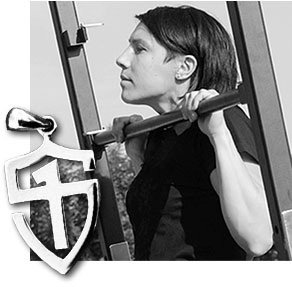 Lara Bizzotto, SFG II, melted silver RKC instructor pendants to make StrongFirst shields