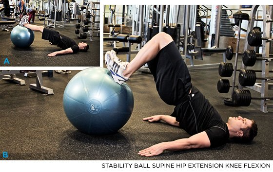 Stability Ball Hip Extension
