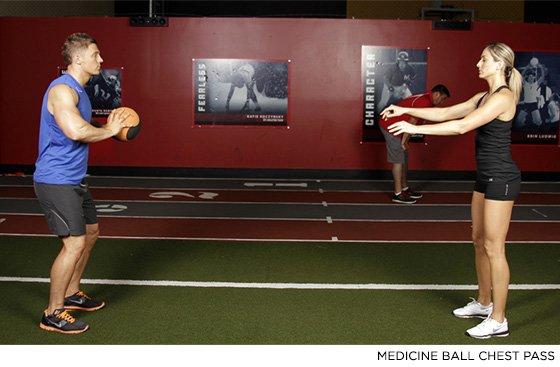 Medicine Ball Chest Pass