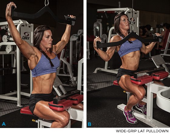 Wide-Grip lat pulldown