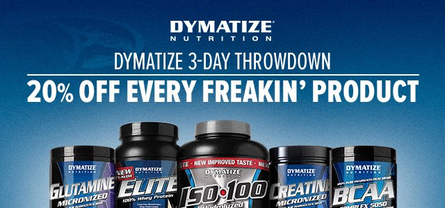 Dymatize 72-Hour Sale