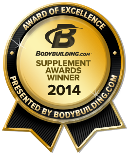 2014 Bodybuilding.com Supplement Award Winner