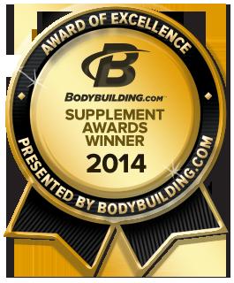 2014 Bodybuilding.com Supplement Award Winner
