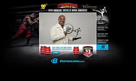 """<div id=""""DPG"""" webReader=""""52.5615343633""""><h2 class=""""article-sub-header"""">FOR IMMEDIATE RELEASE:</h2><p><em>Boise, ID - January 28, 2014 -</em> Bodybuilding.com, the Internet's most-visited fitness website and largest online retailer of nutritional supplements, will offer a free worldwide webcast of the Red Carpet Gala preceding the sixth edition of the Fighter's Only <a href=""""http://worldmmaawards.com/"""">World MMA Awards</a>, presented by <a href=""""http://www.fightersonlymag.com/"""">Fighter's Only Magazine</a>, <a href=""""http://www.bodybuilding.com/"""">Bodybuilding.com</a>, and <a href=""""http://www.venetian.com/"""">The Venetian Las Vegas®</a>.</p><p>Keeping with its theme of staying on the cutting edge, the Fighter's Only MMA Awards has added even more entertainment to their star-studded weekend with the live streaming of the preview show. The webcast will be presented by Bodybuilding.com on Friday, February 7th, 2014, from The Venetian Las Vegas® beginning at 5 p.m. PST (8 p.m. EST).</p><p>Hosted by veteran MMA personality <a href=""""http://davefarra.com/"""">Dave Farra</a>, the show will feature a panel of MMA experts from some of the biggest outlets in the world to break down the night's nominees, as well as on-set interviews with host Brian Stann and several of the stars of the MMA world arriving at the black-tie event. As the celebrities and VIPs arrive, correspondent Sherry Landry will update the audience on all the happenings from the red carpet.</p><p><img src=""""http://www.bodybuilding.com/fun/images/2014/2014-mma-awards-skin-560.jpg""""/></p><p>The live HD webcast will stream on the <a href=""""http://streaming.bodybuilding.com/2014-world-mma-awards/"""">Bodybuilding.com website</a>, the <a href=""""http://www.roku.com/channels/#!details/29216/livestream"""">Livestream Roku channel</a> for those watching on smart TVs, the Livestream <a href=""""http://new.livestream.com/mobile"""">mobile app</a>, and on a special webcast tab on the <a href=""""http://www.facebook.com/Bodybuildingcom"""" rel=""""nofollow"""""""
