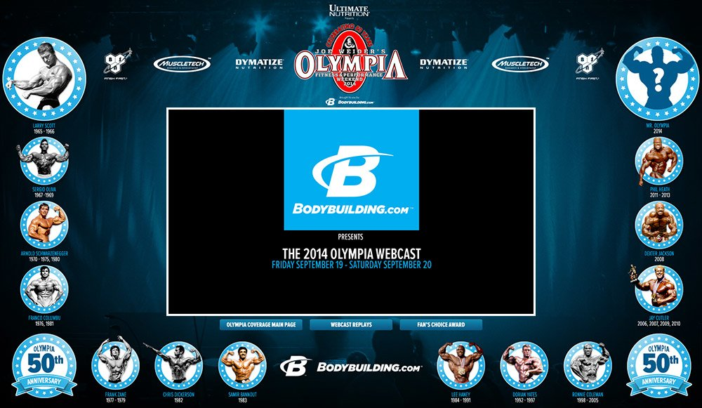 2014 Olympia Weekend Webcast player (available soon)