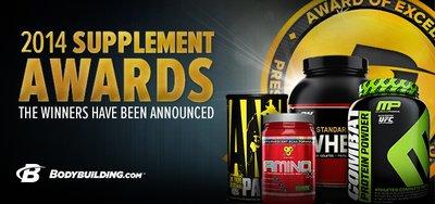 2014 Bodybuilding.com Supplement Award Winners banner