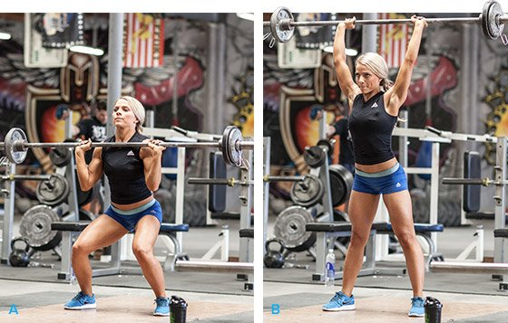 Image result for barbell push press women
