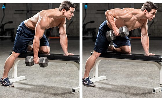 one-arm dumbbell