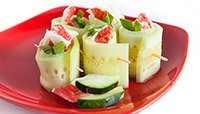 CUCUMBER CRAB WRAPS