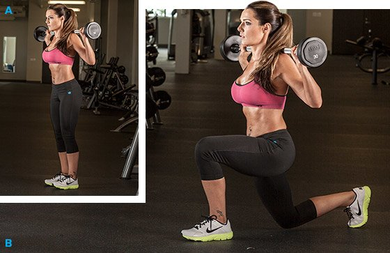 barbell lunges