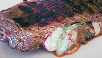 GRILLED STUFFED BISON