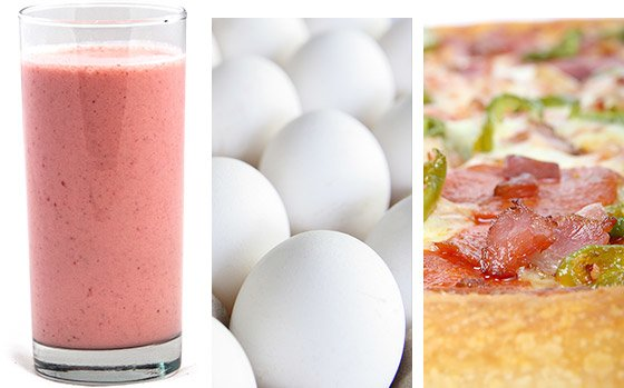 I tried to take in proteins at every meal either from yogurt, milk, protein shakes, eggs, pizza.