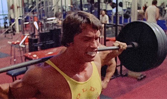 I do squats until I fall over and pass o by Arnold ...