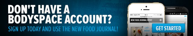 Don't have a BodySpace account? Sign up today and use the new Food Journal!