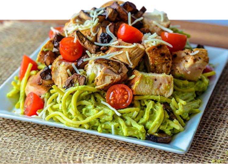 Epic Muscle Building Meal Creamy Avocado Chicken Pasta