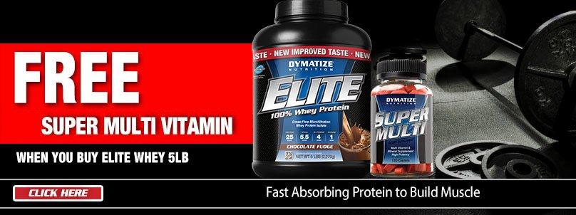 Buy Dymatize Elite Whey Get a FREE Multi
