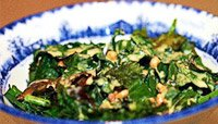 Baked Kale With Peanut Green Tea Dressing