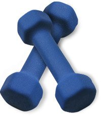 Don't use the 2, 5, or even the 8 lb neoprene dumbbells, ever.