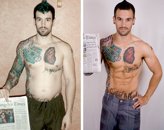 Muscle growth and tattoos