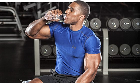 You should drink most of your fluids before, during, and after a workout.