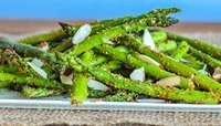 GRILLED ASPARAGUS WITH PANKO, PARMESAN, AND ALMONDS