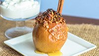 STUFFED BAKED APPLES WITH VANILLA GREEK YOGURT