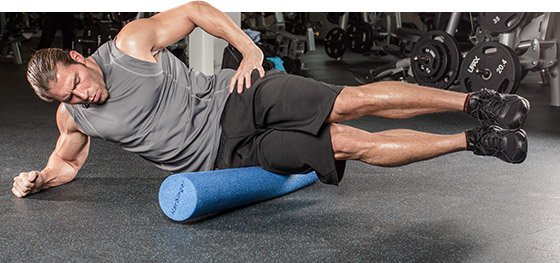"""To really get at this tissue, you need to address the muscles on either side of the IT band and you need some passive means. Rolling on a foam roller can help."""