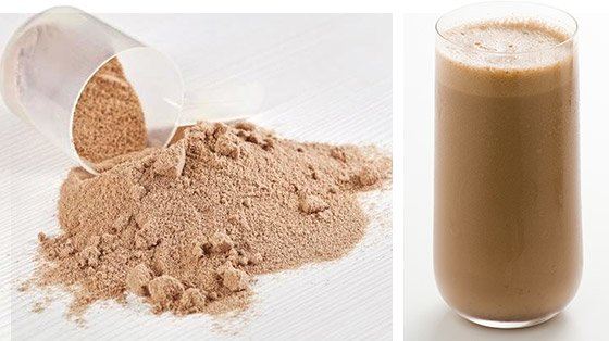 The most popular way to get the amount of protein you need is by consuming some type of protein shake 1-3 times per day in between meals.