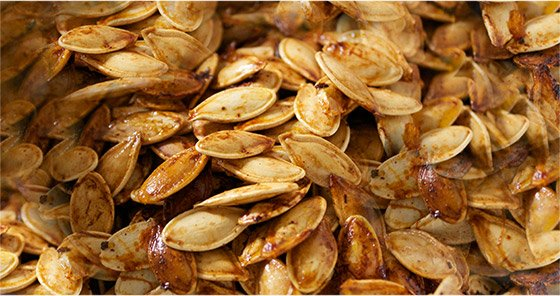 Tamari pumpkin seeds are low in fat, but high in good fat and fiber.