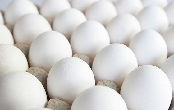 The yolk of an organic egg actually has less cholesterol than conventional eggs.