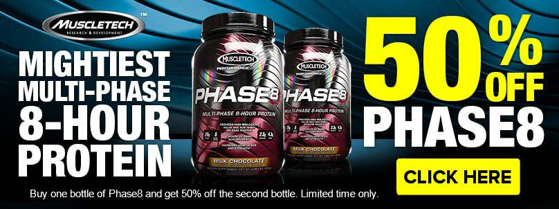 Get 50% Off MuscleTech Phase8!