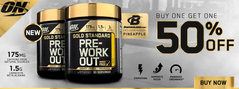 50% off Optimum Pre-workout