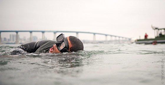 Navy Seal swimming