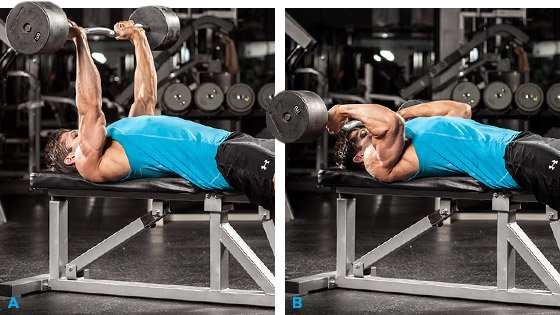 Decline EZ Bar Triceps Extension