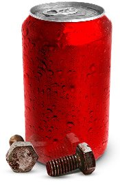 To loosen a rusted bolt, apply a cloth soaked in cola.