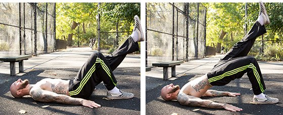 Exercise 5 Single Leg Bridge 2 Sets Of 10 Reps Works Hamstrings Glutes Abs Lower Back