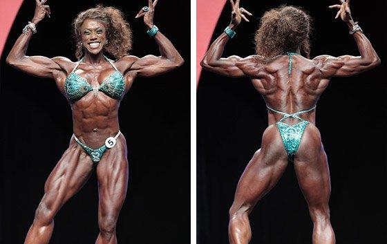 Pro bodybuilder nathalie falk in the gym - 1 part 4